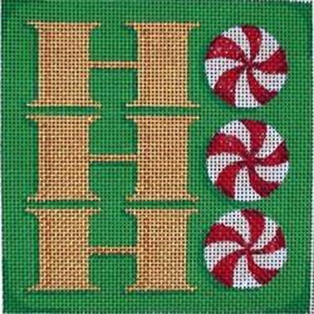 HoHoHo Square Needlepoint Canvas - needlepoint