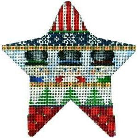 Nutcracker Star Needlepoint Canvas - needlepoint