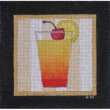 Tequila Sunrise Canvas-Needlepoint Canvas-Raymond Crawford-KC Needlepoint
