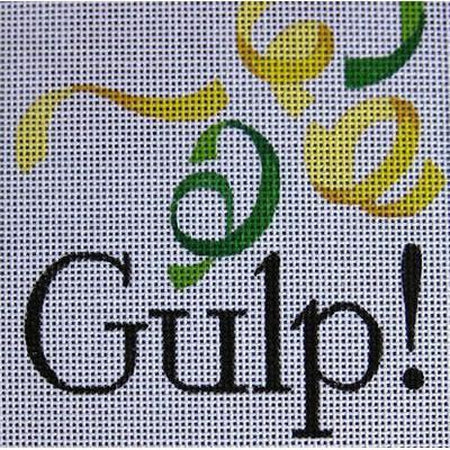 Gulp Needlepoint Canvas-Needlepoint Canvas-Raymond Crawford-KC Needlepoint