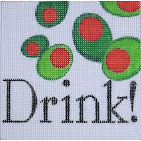 Drink Needlepoint Canvas-Needlepoint Canvas-Raymond Crawford-KC Needlepoint