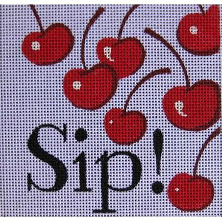 Sip Needlepoint Canvas-Needlepoint Canvas-Raymond Crawford-KC Needlepoint