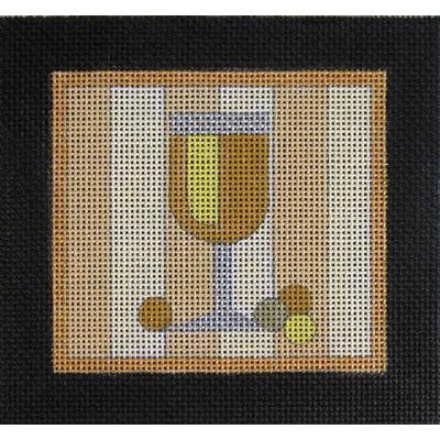White Wine Canvas-Needlepoint Canvas-Raymond Crawford-KC Needlepoint