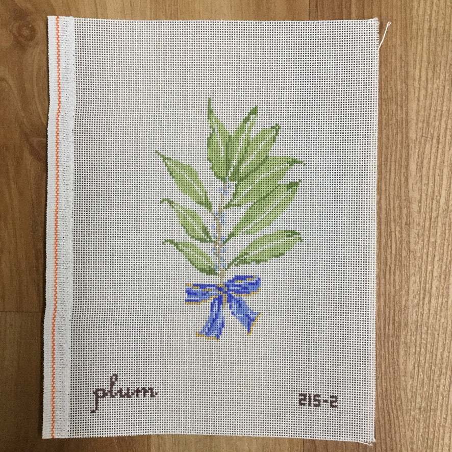 Bay Leaves and Berries Canvas - needlepoint