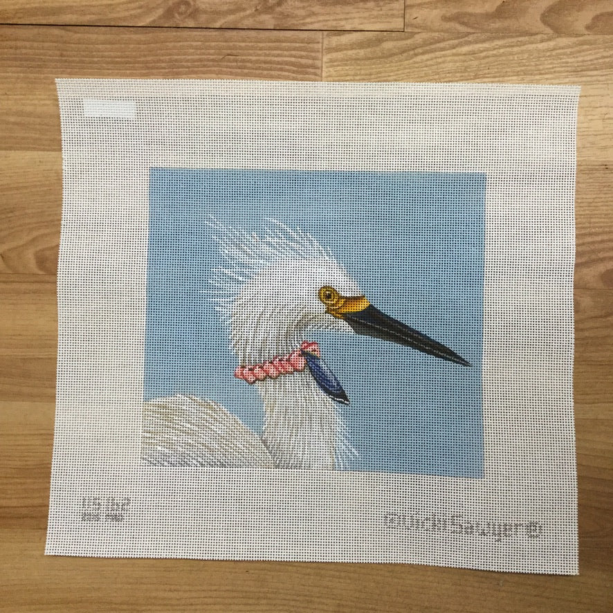 Snowy Diva Needlepoint Canvas - needlepoint