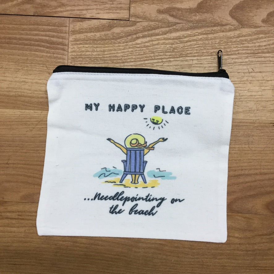 My Happy Place Bag - needlepoint