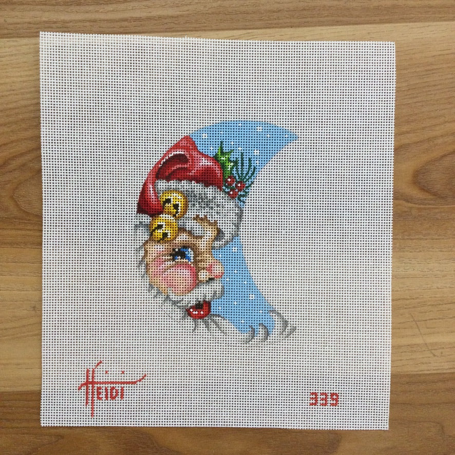 Santa Moon Canvas - KC Needlepoint