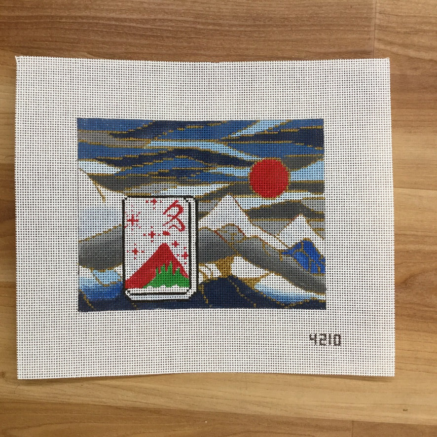 Mountain Peak MahJongg Canvas - needlepoint