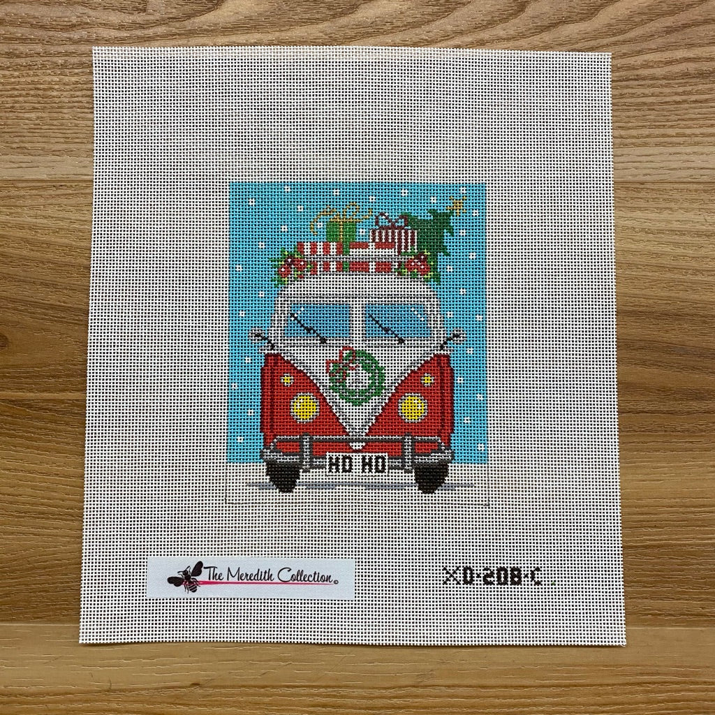 Micro Bus Christmas Canvas - KC Needlepoint