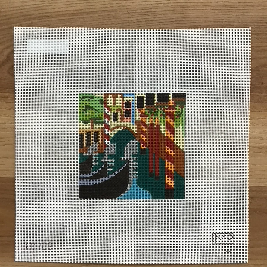 Venice Travel Square Canvas - KC Needlepoint