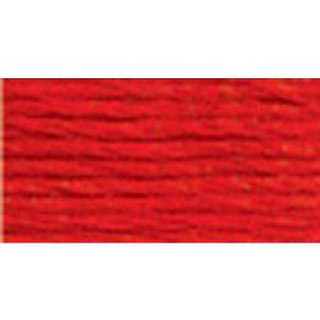DMC 5 Pearl Cotton 606</br>Bright Orange Red - needlepoint