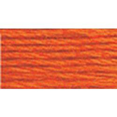DMC 5 Pearl Cotton 947</br>Burnt Orange - needlepoint