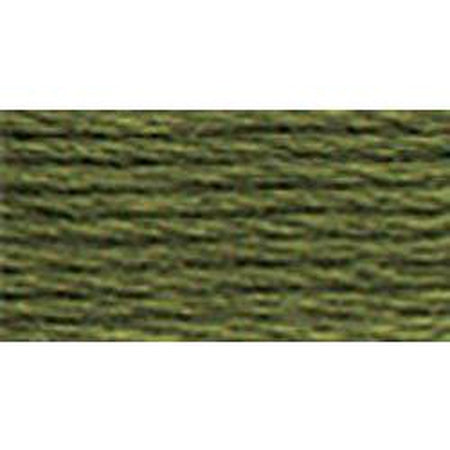 DMC 3 Pearl Cotton 3051</br>Dark Green Gray - needlepoint