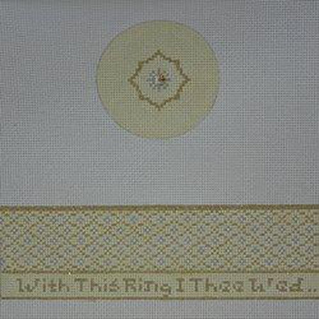 With this Ring Hinged Box Canvas - needlepoint