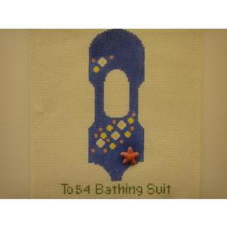 Bathing Suit Topper Canvas-Needlepoint Canvas-Studio Midwest-13 mesh-KC Needlepoint