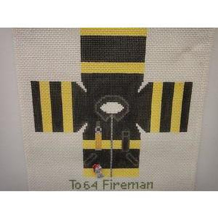 Fire Fighter Topper Canvas - needlepoint
