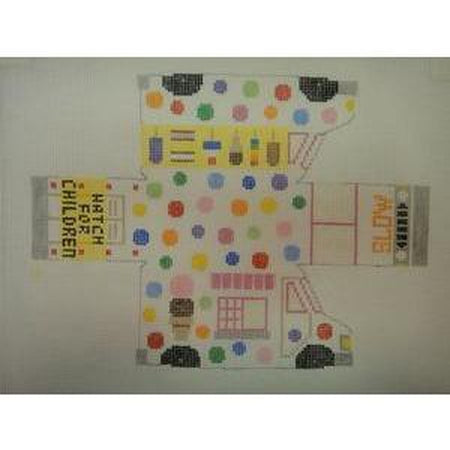 Ice Cream Truck Needlepoint Canvas-Needlepoint Canvas-Studio Midwest-18 mesh-KC Needlepoint