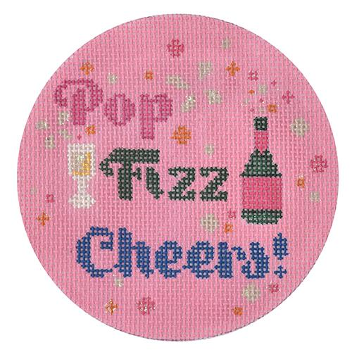 Pop Fizz Cheers Canvas - needlepoint