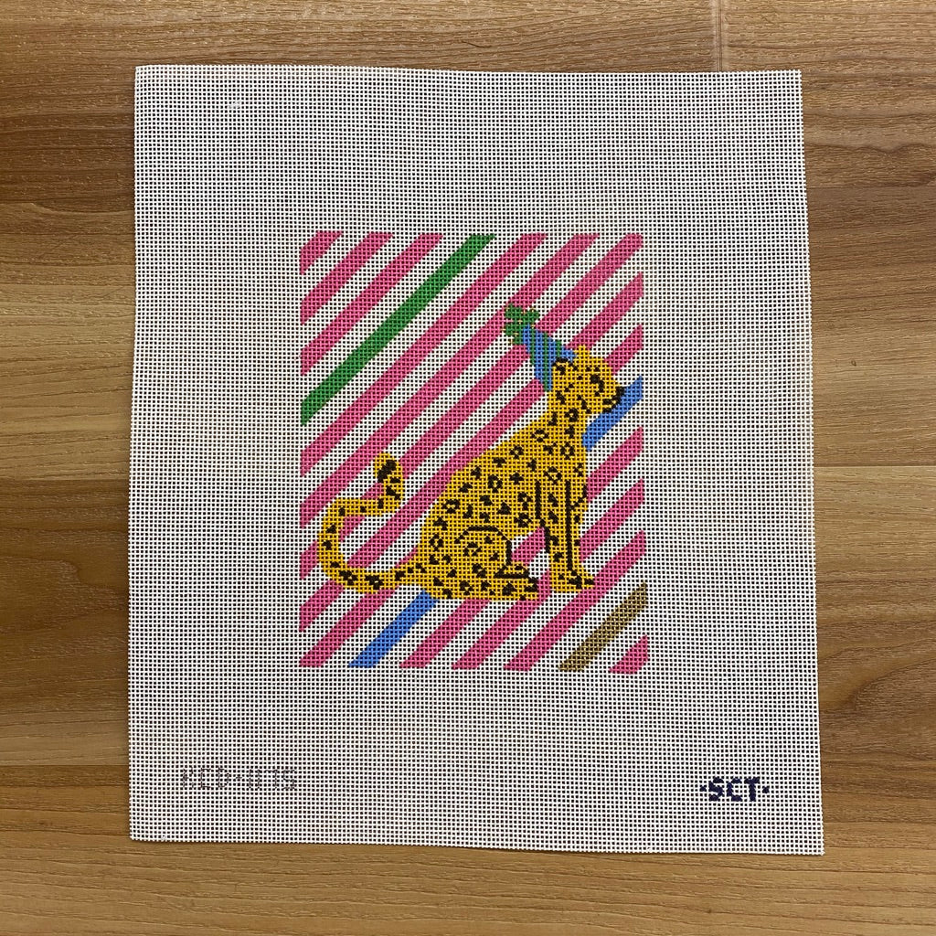 Party Cheetah Canvas - needlepoint