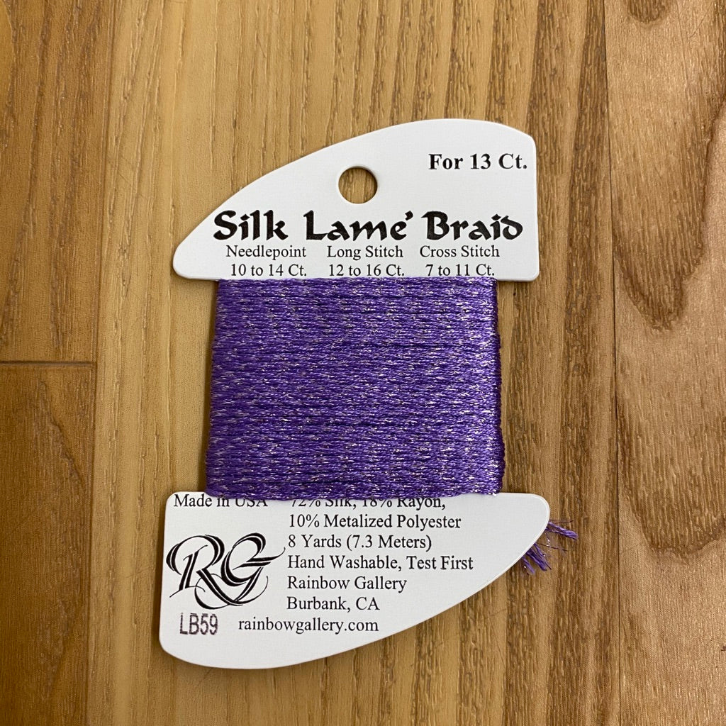 Silk Lamé Braid LB59 Lilac-Silk Lamé Braid-KC Needlepoint