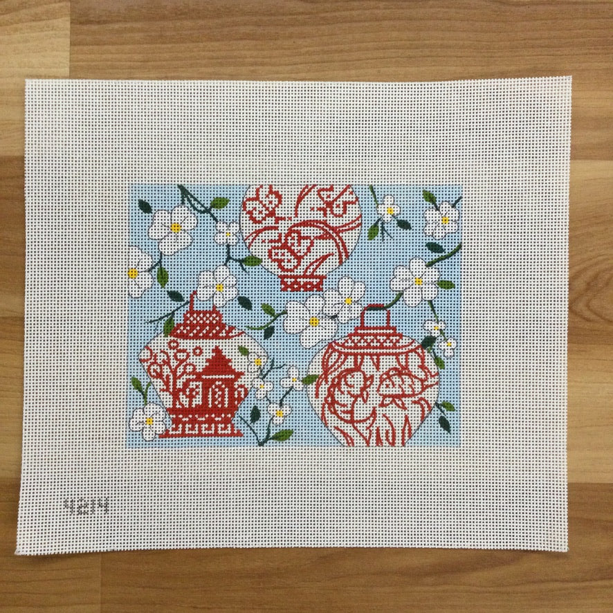Chinese Lanterns MahJongg Canvas - needlepoint