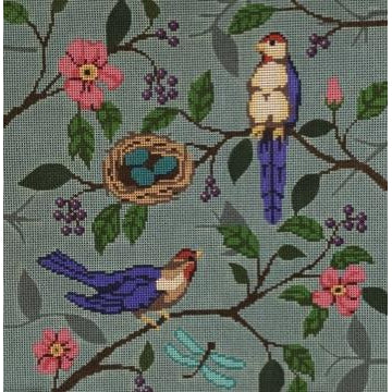 Bird Pillow Canvas-Needlepoint Canvas-The Collection-KC Needlepoint