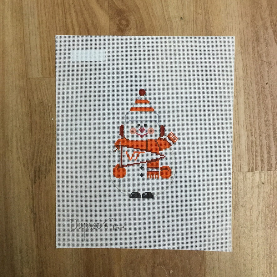 VT Snowman Canvas-Needlepoint Canvas-KC Needlepoint