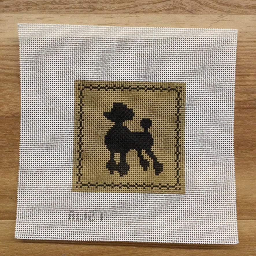 Poodle Canvas - needlepoint