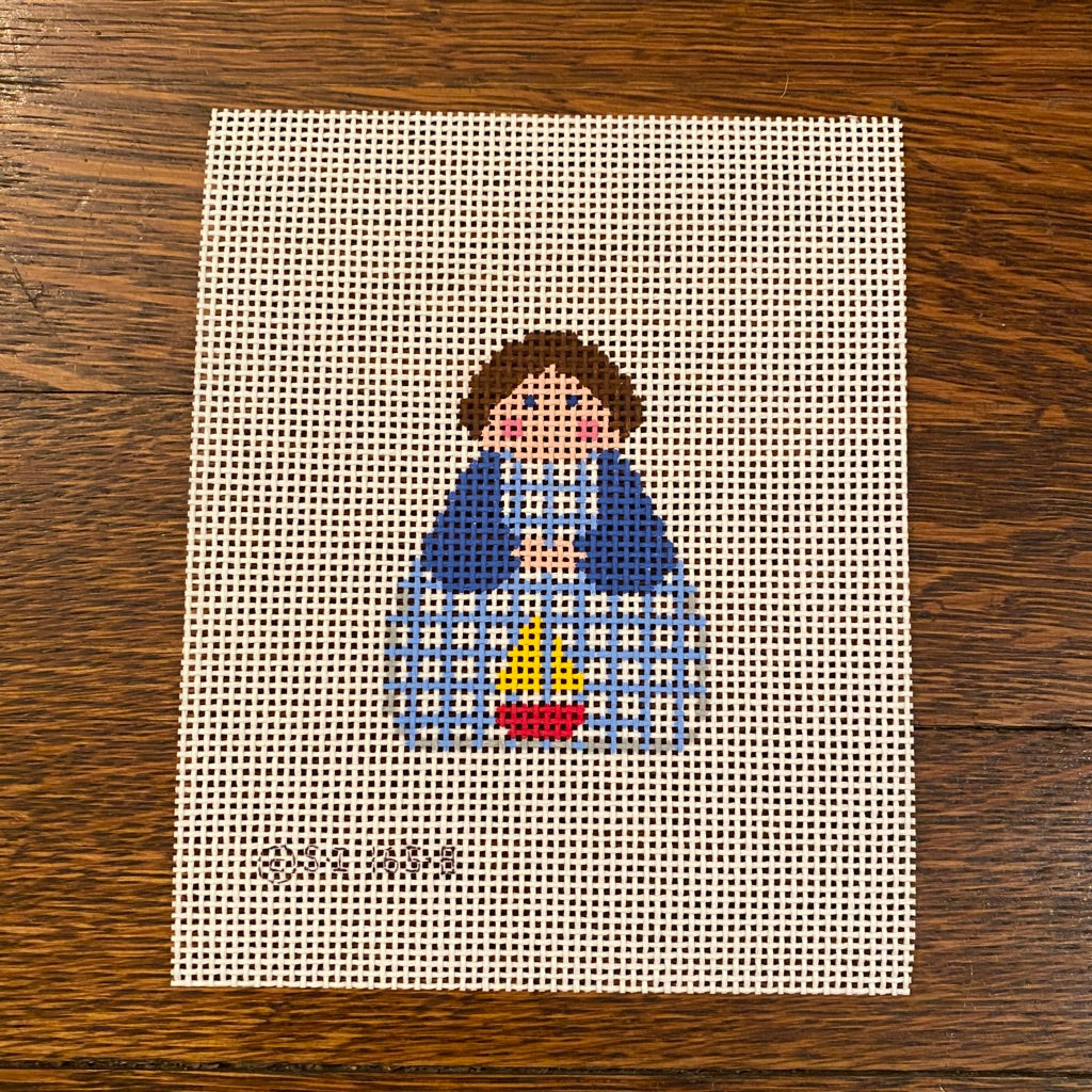 August Angel Canvas - needlepoint