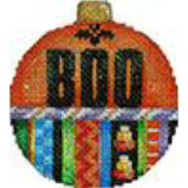 Boo Ball Canvas - needlepoint