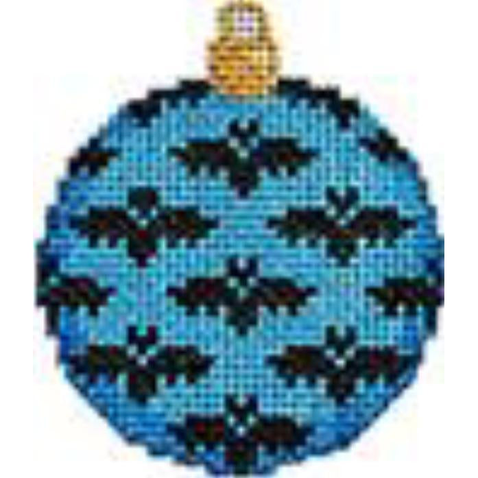 Blue Bats Mini Ball Canvas - needlepoint