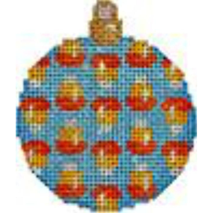 Candy Corn Mini Ball Canvas - needlepoint