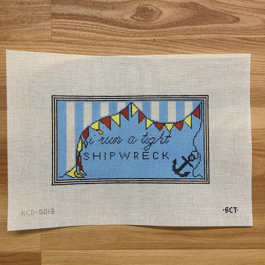 I Run a Tight Shipwreck Canvas - needlepoint