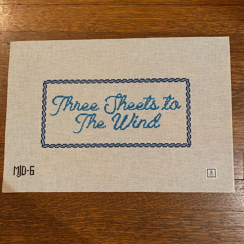 Three Sheets to the Wind Canvas-Needlepoint Canvas-KC Needlepoint
