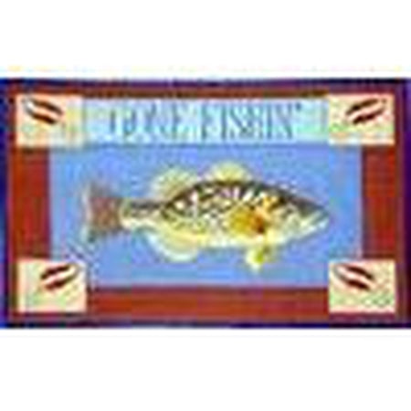 Gone Fishing Bass Canvas - KC Needlepoint