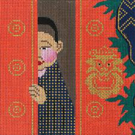 Tibetan Prince Needlepoint Canvas-Needlepoint Canvas-Amanda Lawford Designs-KC Needlepoint
