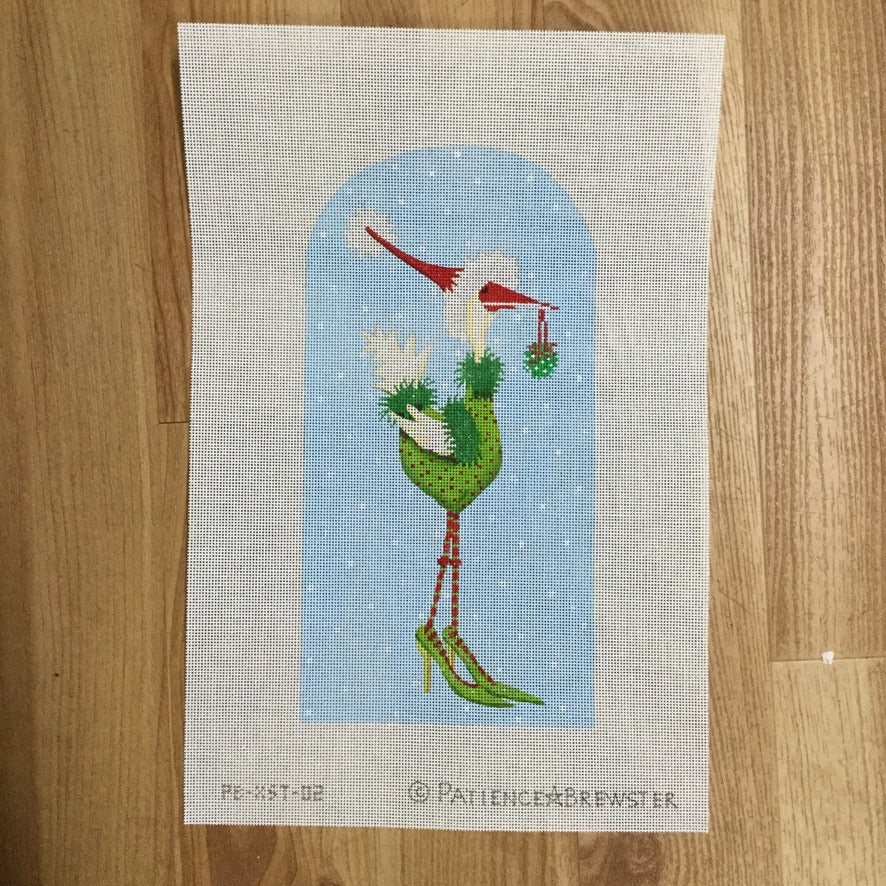 Christmas Goose in Heels Canvas - needlepoint