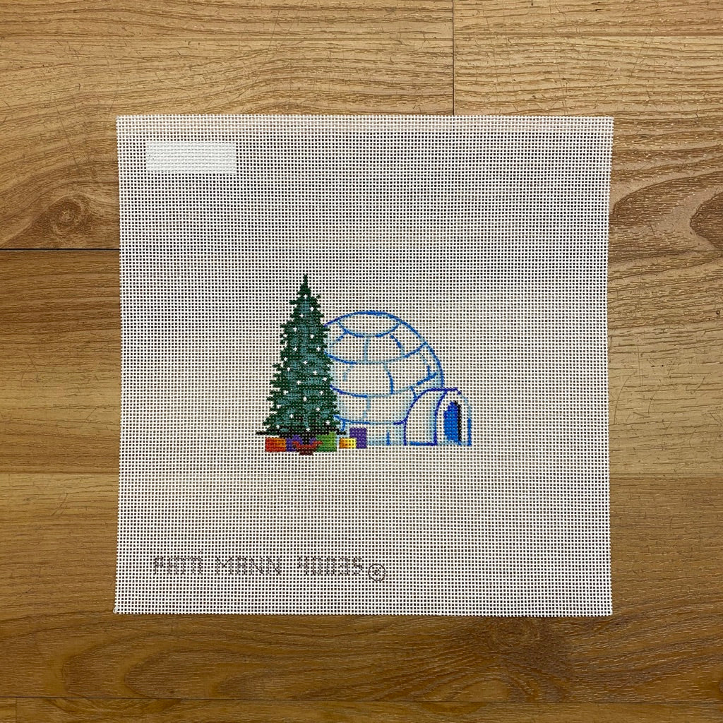 Christmas Igloo Canvas - needlepoint