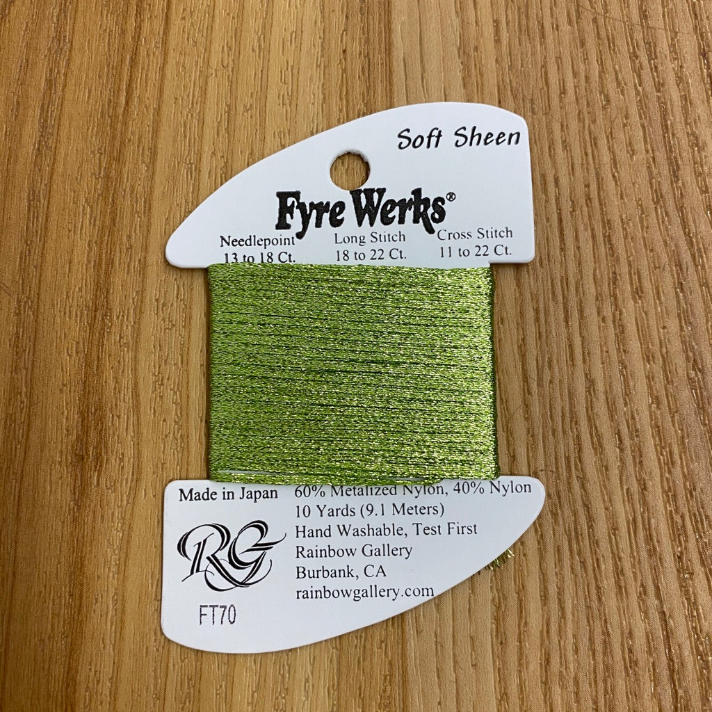 Fyre Werks Soft Sheen FT70 Chartreuse - needlepoint