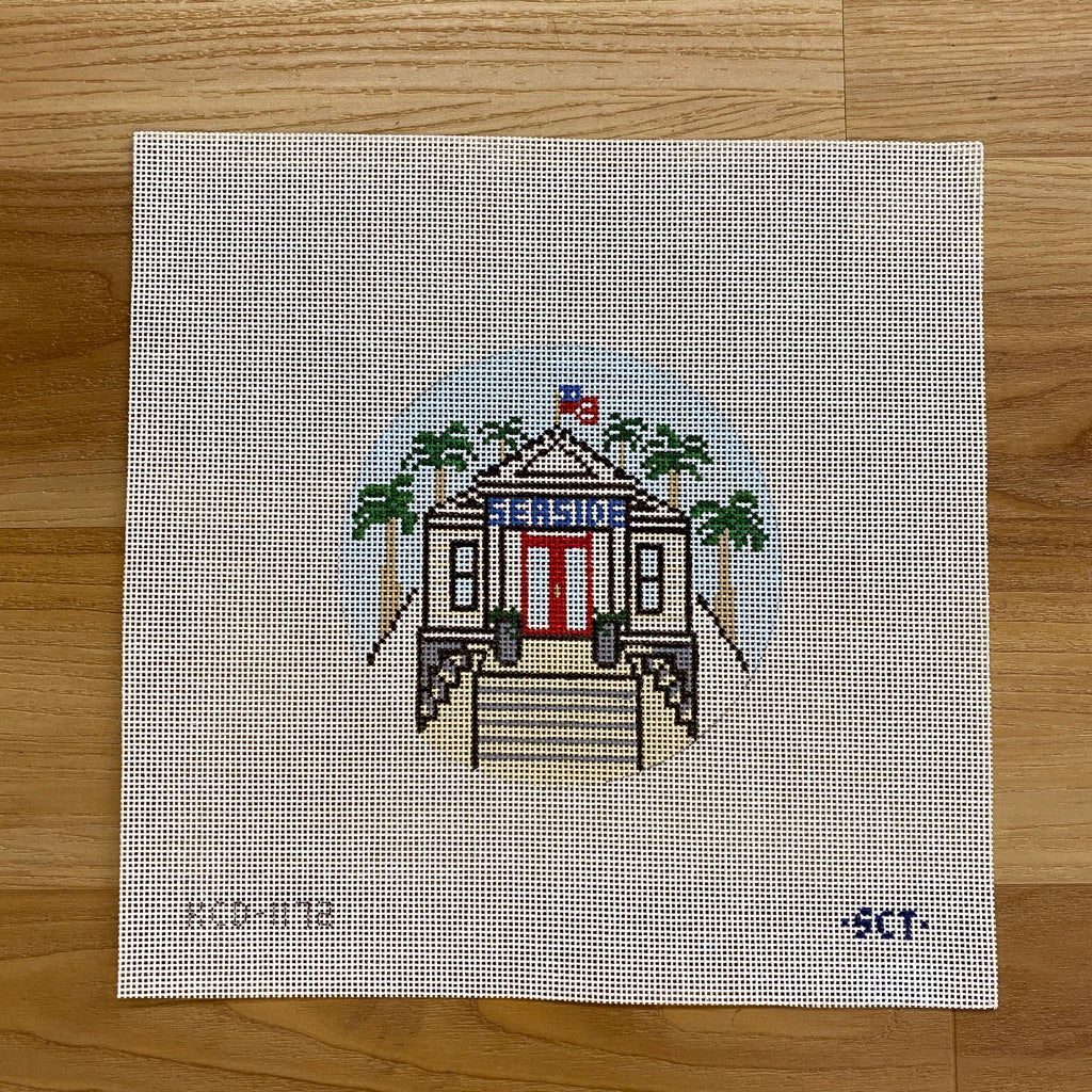 Seaside Post Office Canvas - needlepoint