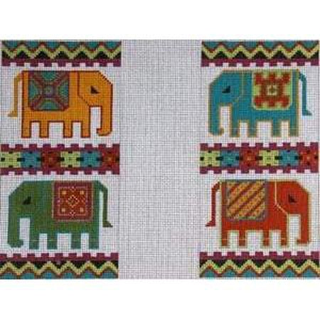 Elephant Eyeglass Case Canvas - needlepoint