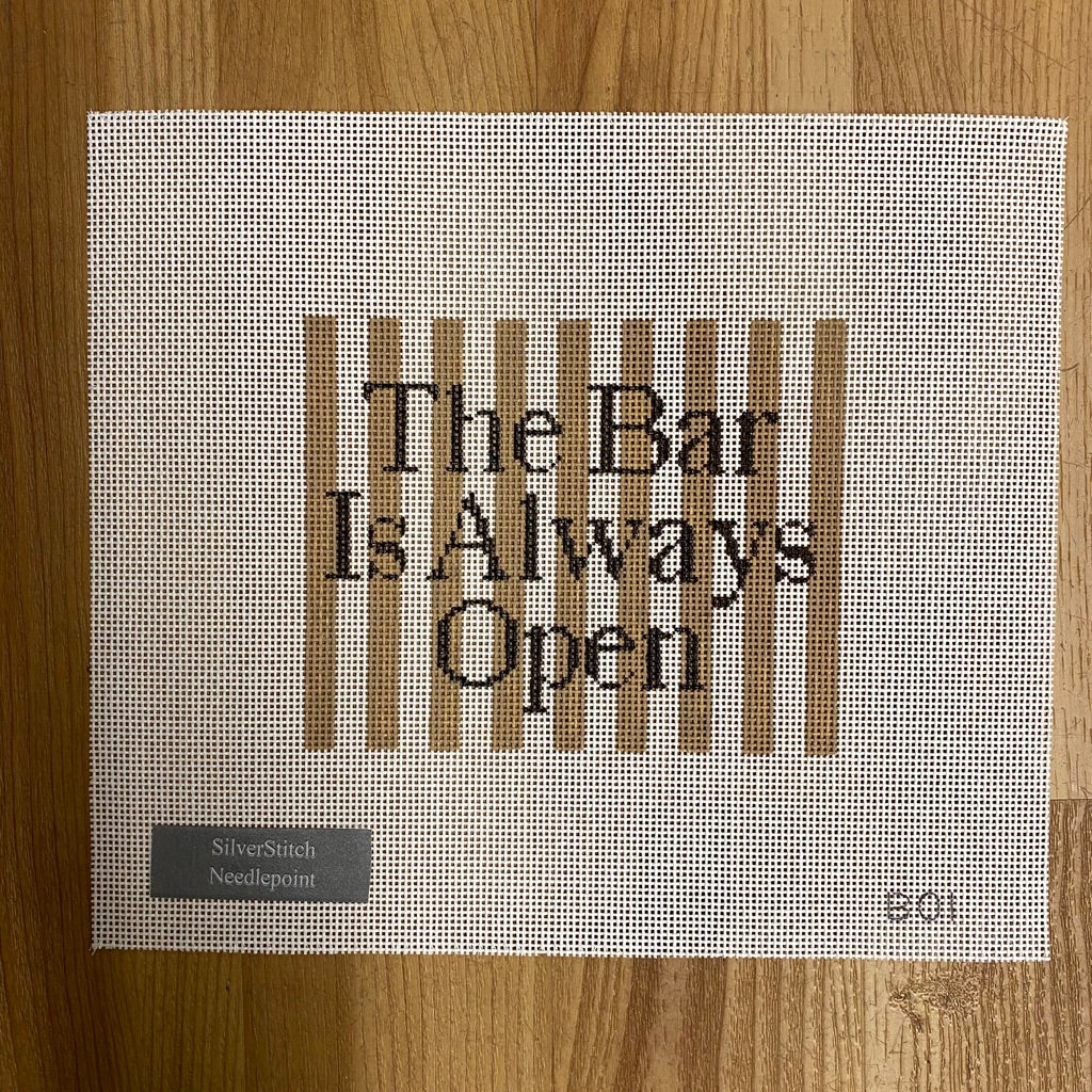 The Bar Is Always Open Canvas - needlepoint