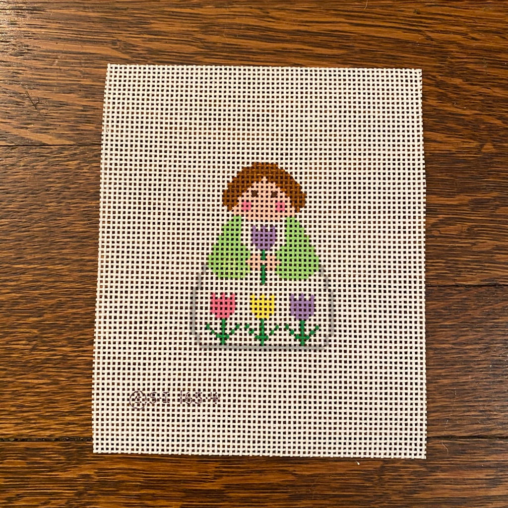 April Angel Needlepoint Canvas-Needlepoint Canvas-KC Needlepoint