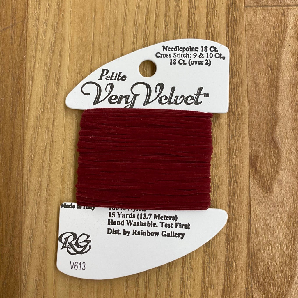 Petite Very Velvet V613 Burgundy - KC Needlepoint