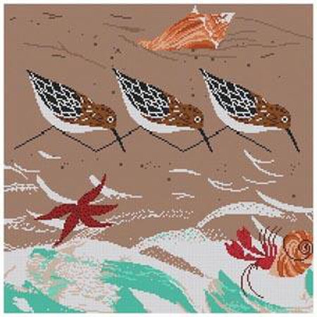 Beach Birds Canvas-Needlepoint Canvas-The Meredith Collection-KC Needlepoint