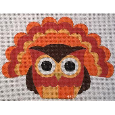Turkey Owl Canvas-Needlepoint Canvas-Raymond Crawford-KC Needlepoint