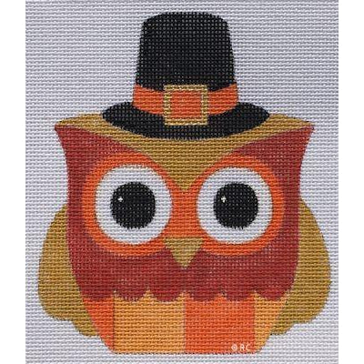 Mr. Pilgrim Owl Canvas-Needlepoint Canvas-Raymond Crawford-KC Needlepoint