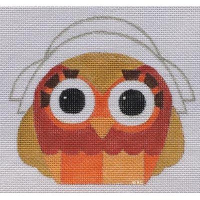 Miss Pilgrim Owl Canvas-Needlepoint Canvas-Raymond Crawford-KC Needlepoint