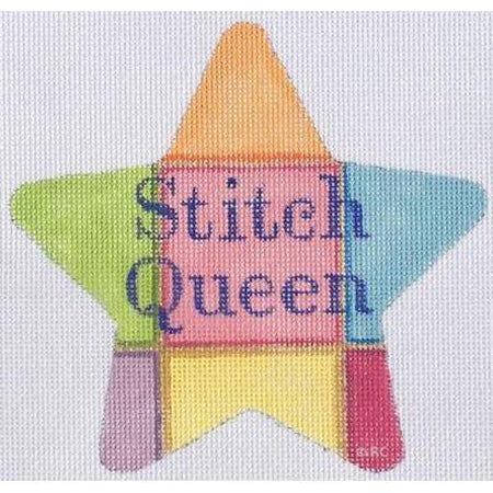 Stitch Queen Star Canvas-Needlepoint Canvas-Raymond Crawford-KC Needlepoint