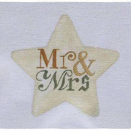 Mr. & Mrs. Star Canvas - needlepoint